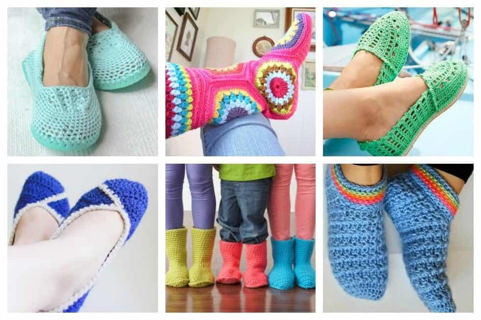 Free Printable Crochet Slipper Patterns : 20 Free Crochet Slipper Patterns that are Perfect for Fall ...