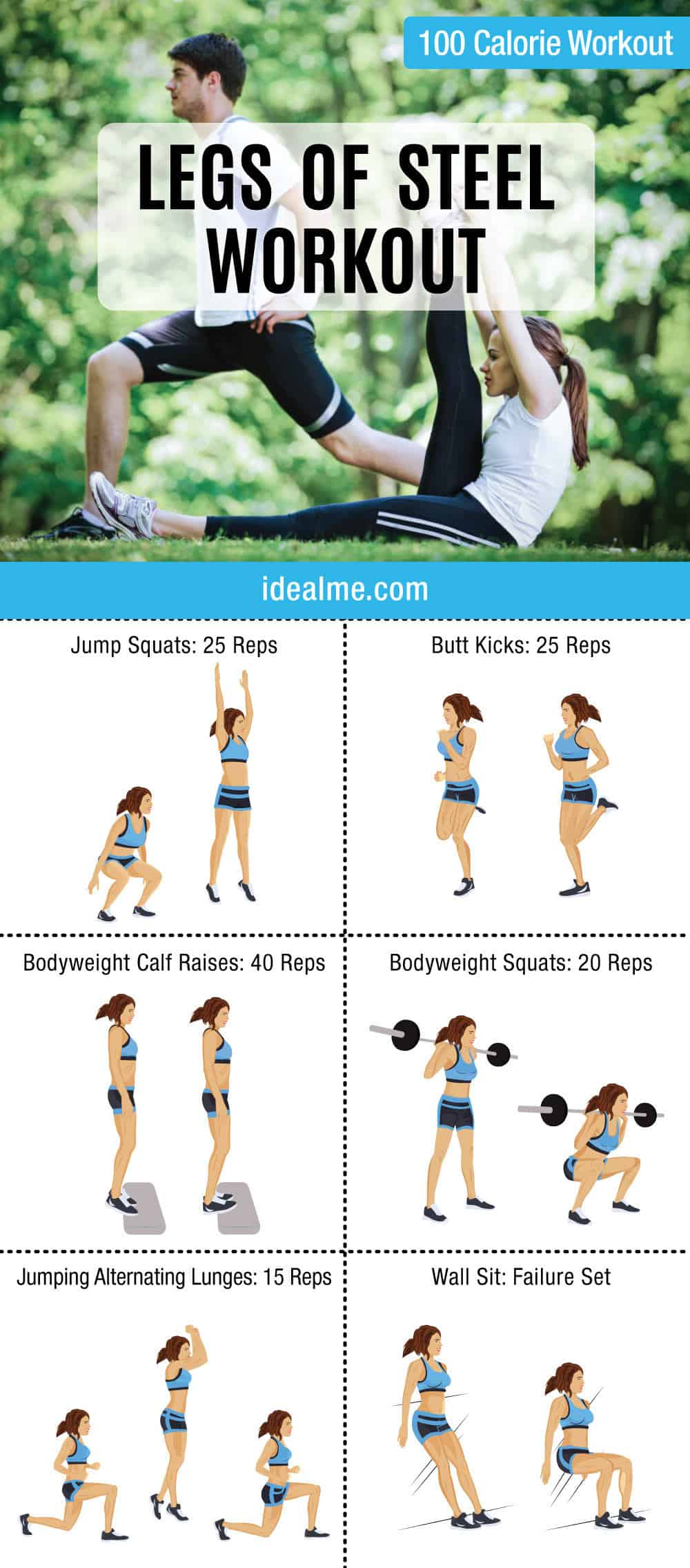 Legs Of Steel 100 Calorie Workout